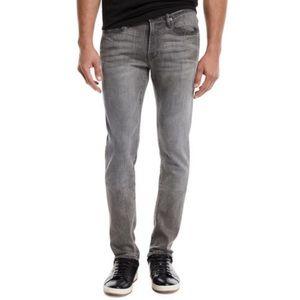 FRAME L'Homme Gray Slim Straight Leg Jeans
